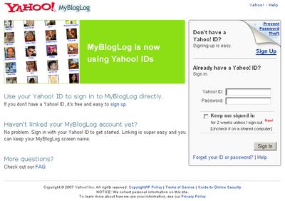MyBlogLog トップページ
