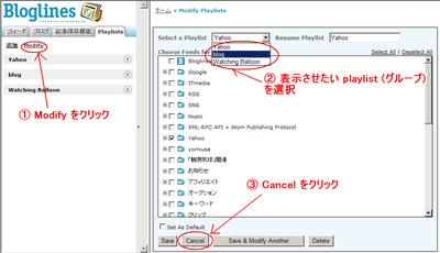 playlists の「設定変更画面」をいじっているうちに、Glimpse View  が正常に表示されるようになる