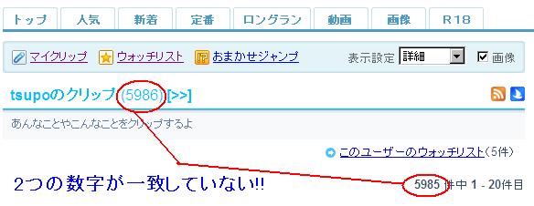 livedoorクリップ (loginしてない状態)