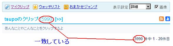 livedoorクリップ (loginしている状態)