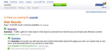 Scandoo 経由で MSN search してみた結果
